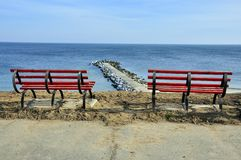 Resting place on sea panorama Royalty Free Stock Photo