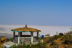 Resting place on top of the mountain. Near the great rann of kutch stock photography