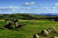 Resting point on Hoad Hill Stock Image