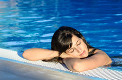 Resting in Pool Stock Images