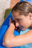 Resting at pool Royalty Free Stock Photos