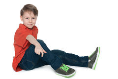 Resting preschool boy Royalty Free Stock Image