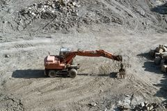 Resting red quarry digger Stock Images