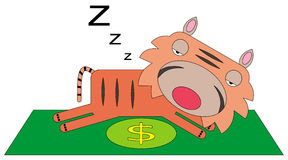 Resting rich tiger Royalty Free Stock Images