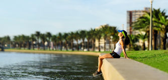 Resting runner Royalty Free Stock Photography