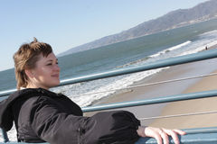 Resting on Santa Monica beach Royalty Free Stock Photo