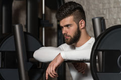 Resting Between Sets And Exercises Stock Photography