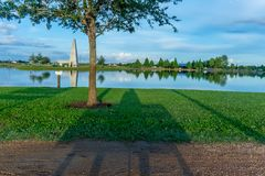 Resting Shadows In The Park royalty free stock photography