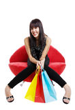 Resting shopper Stock Image
