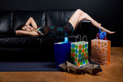 Resting after shopping Stock Image