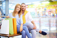 Resting after shopping Royalty Free Stock Photo
