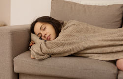 Resting on sofa. Stock Photography