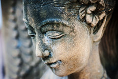 An Resting Statue in soft light stock photography