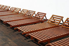 Resting sunbeds Royalty Free Stock Photography