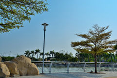 Lake in park. Resting on sunday in the our park - Thailand Royalty Free Stock Images