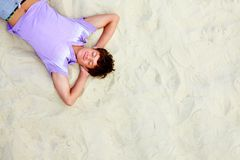 Resting teenager Royalty Free Stock Images