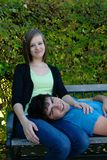 Resting Teenagers Royalty Free Stock Image