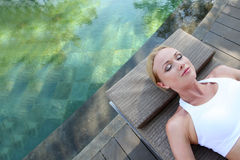 Resting time by water Royalty Free Stock Image