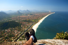 Resting on top of the Mourao Mountain. In Brazil Stock Photography