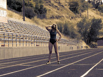 Resting during track practice Royalty Free Stock Images