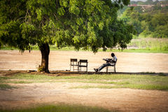 Resting under a tree Royalty Free Stock Photography