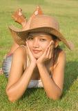 Resting woman Stock Photo