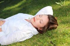 Resting woman Royalty Free Stock Photos
