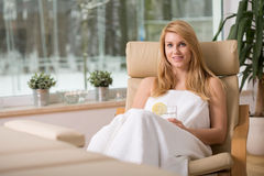 Resting woman Stock Photography