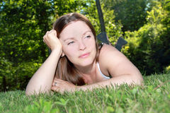 Resting woman Royalty Free Stock Photo