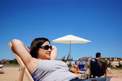 Resting woman Royalty Free Stock Photography