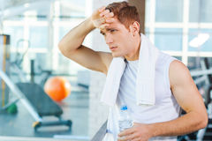 Resting after work out. Stock Image