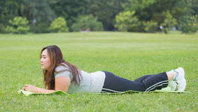 Resting after workout. Royalty Free Stock Images