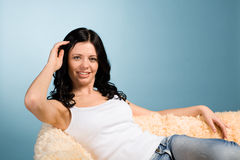 Resting young woman Stock Photos