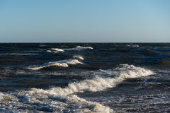 Restless Baltic sea. Royalty Free Stock Images