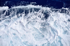 Restless foamy blue sea water texture royalty free stock photos