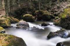 Restless mountain river Royalty Free Stock Photo