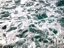 Sea with foam waves. stock images