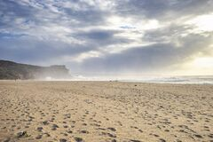 Free Restless Sea At North Beach Of Famous Nazare, Portugal Royalty Free Stock Photo - 194487575