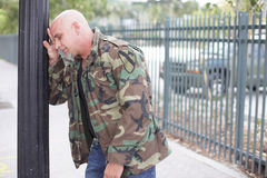 Restless veteran soldier royalty free stock photos