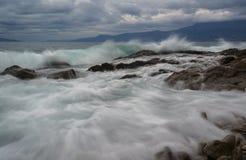 Restless waves Royalty Free Stock Image