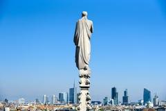 Restlicht auf Mailand-Skylinen Lizenzfreies Stockbild