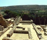 Restna av den Minoan civilisationen i Knossos, Kreta Royaltyfri Foto