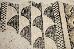 Restna av forntida mosaiker grundar i Lombardy under flera Arkivfoto