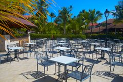 Resto bar in tropical resort. Summer vacation Royalty Free Stock Images