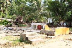 Resto da casa movido pelo tufão Imagens de Stock