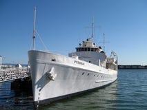 Resto de USS Potomac en el muelle en el puerto de Oakland Fotografía de archivo libre de regalías