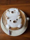 Resto del oso de la moca del café Foto de archivo