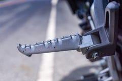 Resto del pie de la motocicleta Imagen de archivo