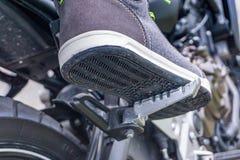 Resto del pie de la motocicleta Fotos de archivo