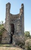 Resto della torre di un castello Immagine Stock Libera da Diritti